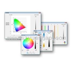 我司发布DALI全功能的DT8调温调色软件,支持xy色度图,Tc双色温,primary N通道原色,RGBWAF彩色.