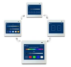 我司推出DALI多功能控制面板,支持开关调光调色场景控制