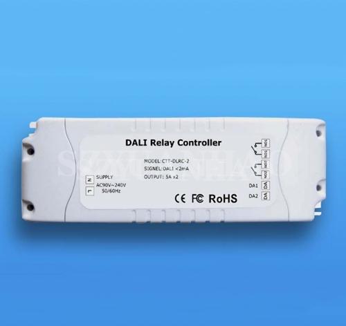 DALI调光系统 DALI继电器控制器 5Ax2