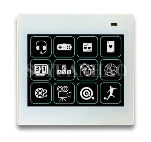 DALI调光系统 12键DALI可编程触摸调光控制开关