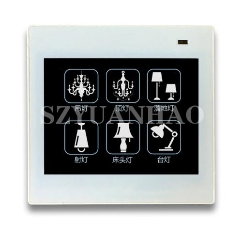 6键DALI触摸面板 调光控制开关