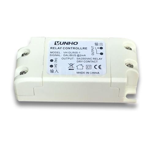 无需供电 单路磁保持继电器执行器 5A/250VAC DALI BUS DT7干接点输出