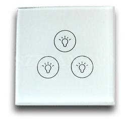 三键DALI触摸按键,DALI玻璃调光开关