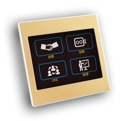 场景控制面板智能灯光2/3//4/5/6/8/9/12键 触摸开关 金属外壳 86安装