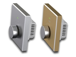 旋转调光器铝金属0-10V/dmx512/dali/可控硅/电力载波调光开关